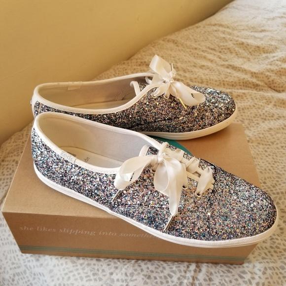 1fdd867c0b29 kate spade Shoes - Kate Spade glitter Keds sz 8 silver multi
